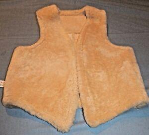 Leather Ægte Real Condition Ladies Mint Medium Fur Vest Tan Unbranded ETqdwOO