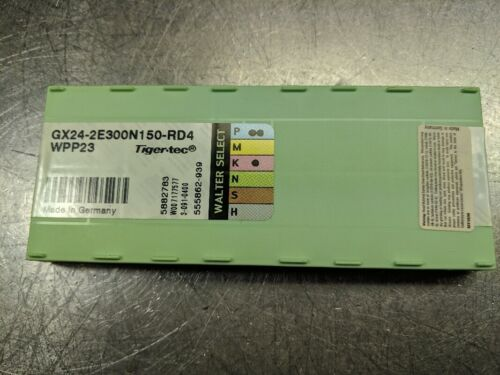 LOC1175A Details about  /Walter Carbide Insert QTY:10 GX24-2E300N150-RD4 WPP23