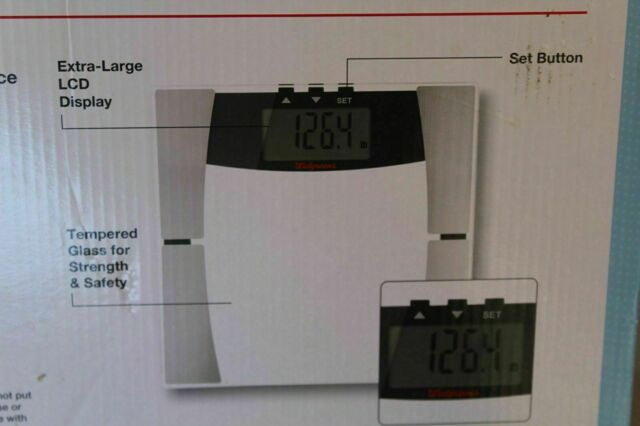 Large Digital LCD Tempered Glass Bathroom Body Weight ...