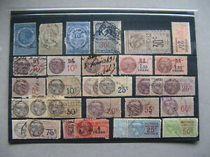 CINDERELLA-FRANCE-small-lot-used-revenue-stamps