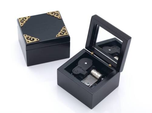 Pirates of Caribbean Davy Jones Wooden Classic Black Square Music Box