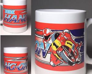 Hang-On Arcade Ceramic Coffee Cup Mug 11oz Sega Genesis Arcade Motorcycle NEW