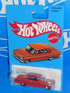 Hot-Wheels-2017-Target-Retro-Series-039-63-Chevy-II-Orange-w-5SPs