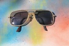 Vintage 50's 60's Rx Eye Glasses, Chrome Metal Frames, Cracked Lens