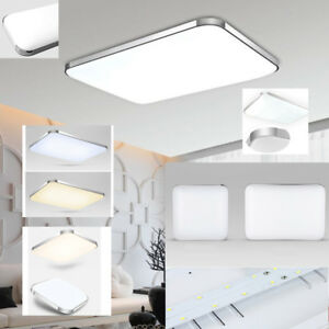12-96W LED Deckenleuchte Deckenlampe Wohnzimmer Küche Dimmbar ...