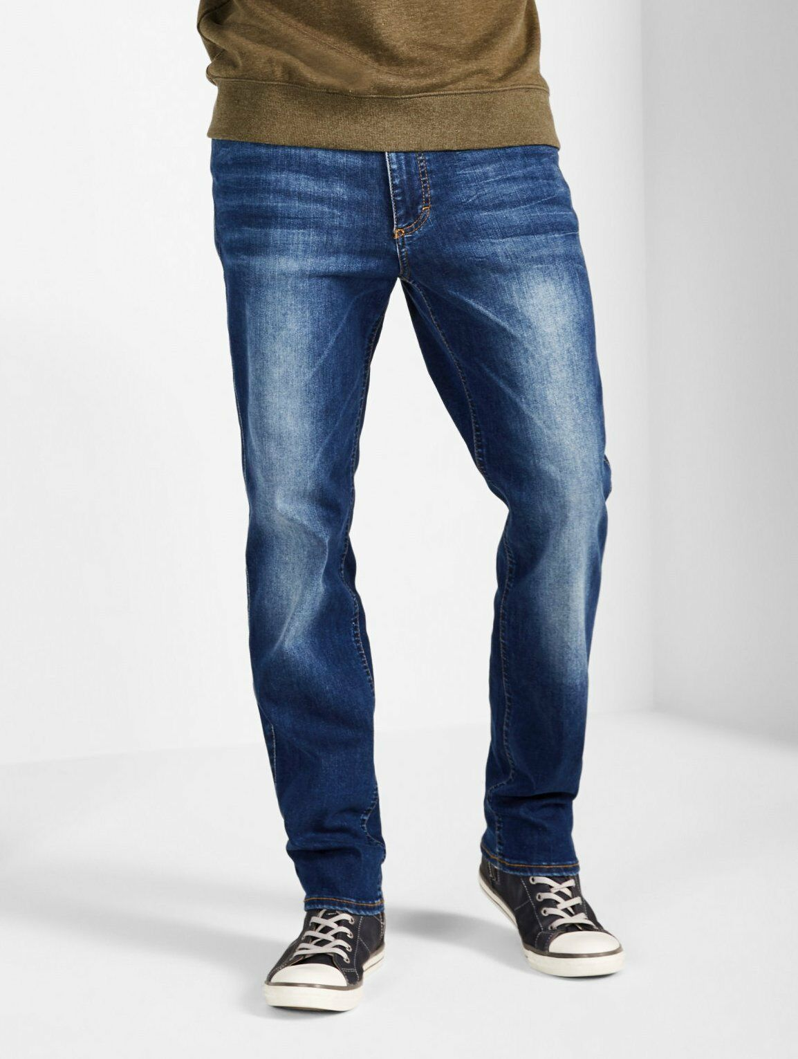 Mustang Tramper Tapered Be Flexible Jeans, Jeans, Jeans, W31 - To - W46 Vintage-Finish aec97c