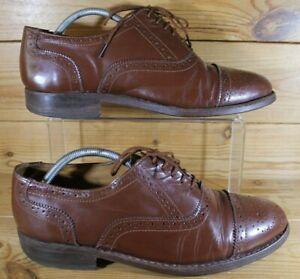Details about Men's Handmade Samuel Windsor Brown Brogues UK 8 Leather Sole
