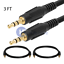 2-PACK-3-5mm-Male-to-Male-Aux-Cable-Cord-Car-Audio-Headphone-Jack-AUXILIARY-3FT miniatura 1