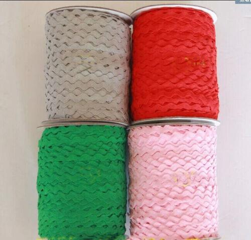 5 Yards 3//8/'/' Wide Ric Rac Rick Rack Trim Lace 25 Colors