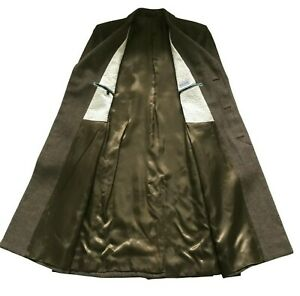 PAUL SMITH MAINLINE Brown(s) Long Epsom Coat Sandwool Mohair Size L  42