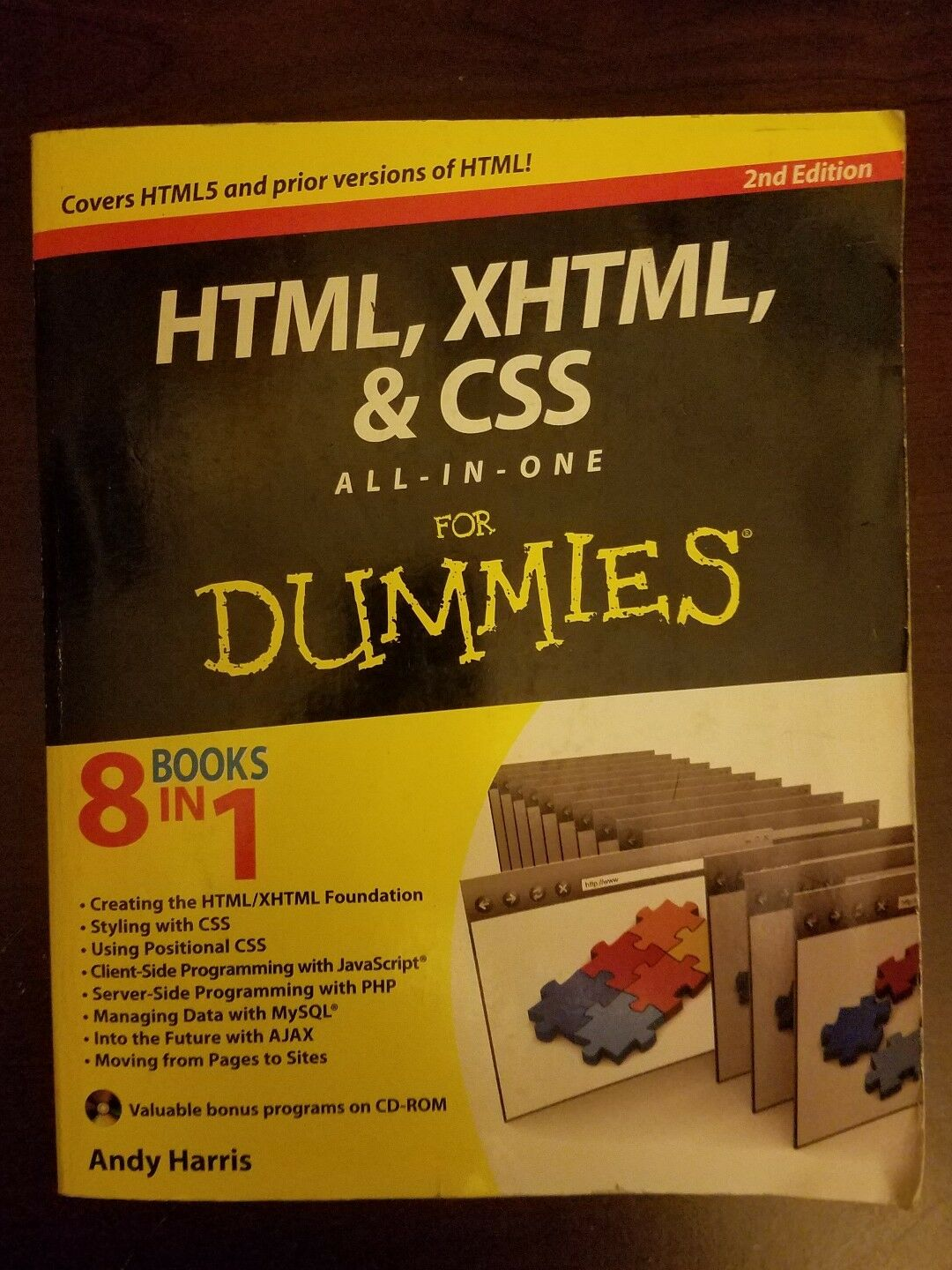 Html Xhtml And Css All In One For Dummies By Andy Harris 2010