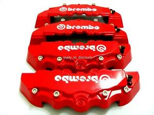 BMW-E36-E46-E60-E61-E90-E91-RED-BRAKE-CALIPER-COVER-4PCS-FRONT-REAR