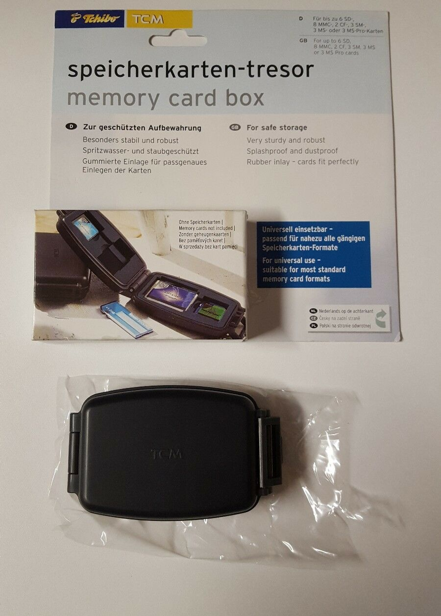Tchibo TCM Memory Card Box Very Sturdy And Robust Splashproof Dust proof(bd)