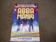 ABBA  MANIA  Ultimate Tribute Concert Live  STRAND Theatre Original Poster
