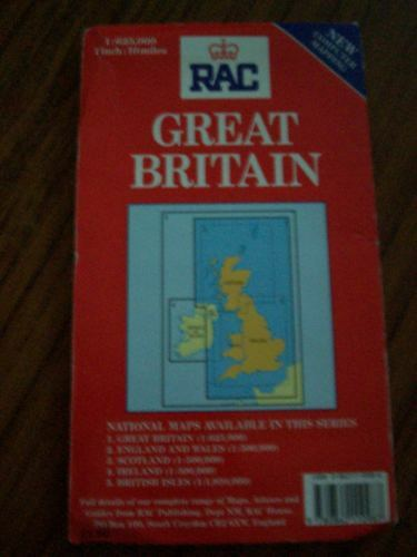 R A C Great Britain Map