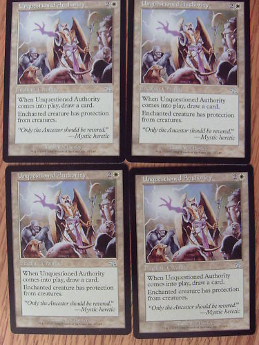 MTG Unquestioned Authority x4 NM//Mint Judgment