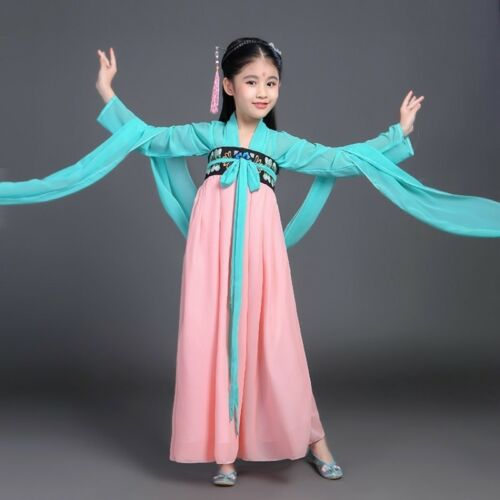 Chinese Kids Girls Princess Dress Hanfu Tang Dynasty Dresses Dramaturgic Costume