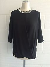 BNWT MICHAEL MICHAEL KORS Women's Black Silk Top Blouse Shirt size S