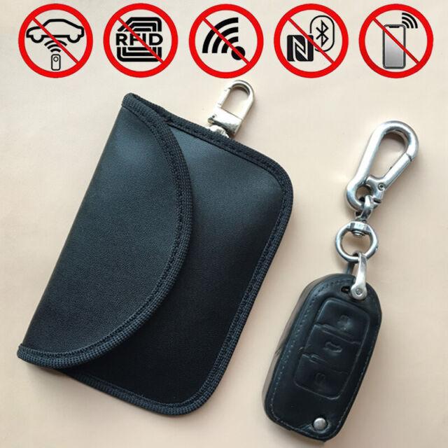 FOXNSK Faraday Box for Car Keys Leather Signal Blocker Box for Car Keys Fob Phones Cards Keyless Entry RFID Signal Blocker /& Anti-Theft Faraday Box Cage Single Lock
