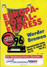 CWC - EC II 92/93 Hannover 96 - SV Werder Bremen, 30.09.1992