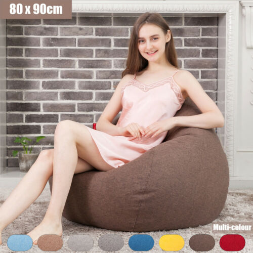 Bean Bag Chairs for Kids Couch Sofa Cover Indoor Lounger Reading Relaxing Seat