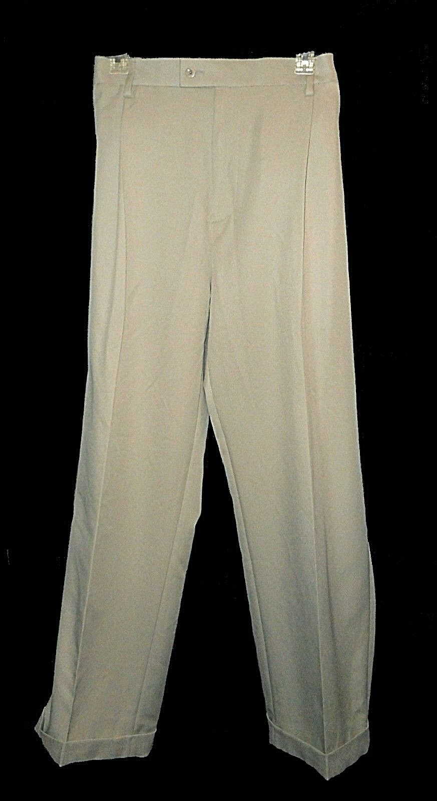 New Pants, Saddlebred, Comfort-waist Straight-Fit Pleated MSRP- 42X30