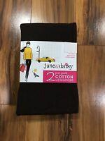 Women's 2 June & Daisy Cotton Leggings Size Small Black/espresso 541g