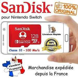 SANDISK pour Nintendo Switch - Carte Mémoire Micro SDXC 128 Go ( R100/W90 Mo/s )