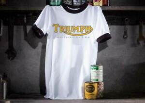 Triumph-Motorcycle-Mens-Ringer-T-Shirt-Size-Small-40-039-039