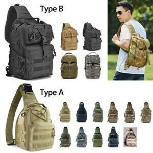 New-Men-Military-Tactical-Sling-Bag-Assault-Large-Backpack-Army-Molle-Waterproof