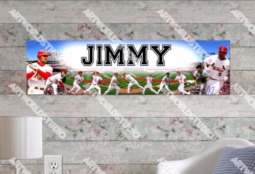 Personalized//Customized St Louis Cardinals Name Poster Wall Decoration Banner