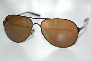 Oakley Caveat POLARIZED Sunglasses OO4054-05 Brunette Frame W/ Bronze Iridium