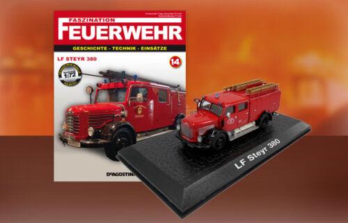 Feuerwehr Bomberos DIE CAST 1:72 Camion Pompieri LF STEYR 380