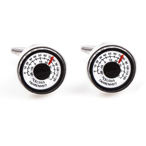 Thermometer Celcius Cufflinks Really Works Wedding Fancy Gift Box Free Ship USA
