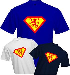 17b60dd3d Image is loading SCOTTISH-SUPERMAN-T-Shirt-Rampant-Lion-Scotland-Fun-