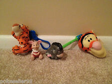 Disney Winnie the Pooh Tigger Eeyore Piglet Toys Lot Fast Food Cake Toppers Set