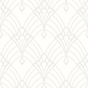 Astoria-Art-Deco-Papier-Peint-Blanc-Argent-Rasch-305302-Paillette