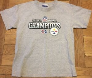 NFL Pittsburgh Steelers Youth Super Bowl t-shirt L 12-14 Gray Reebok ... 848d5a759