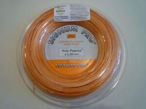 Consciencieux * Nouveau * Signum Pro Poly Plasma Saitenset 1.28 Mm Tennis 12 M Tornado Stringset Orange-afficher Le Titre D'origine