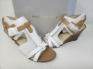 aaa6c620939 NEW! Marc Fisher Women's Casandra Wedge Sandals White R13 tz | eBay