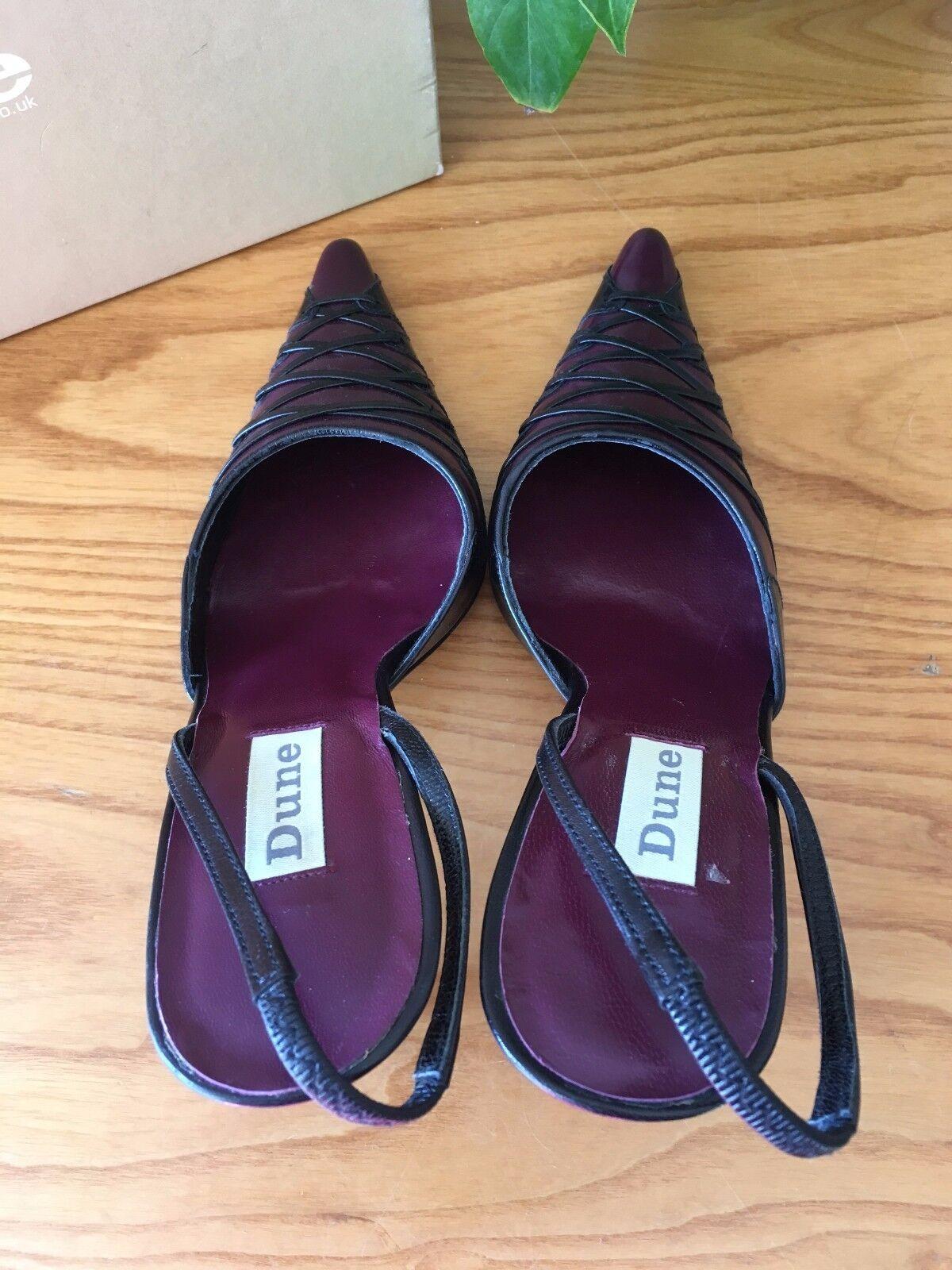 Dune detail purple black corset laced detail Dune slingback pointed court shoes UK 3 EU 36 3679e6
