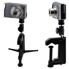 Mini Portable Table Desk Camera Mounting Clamp Tripod for Camera Camcorder DSLR