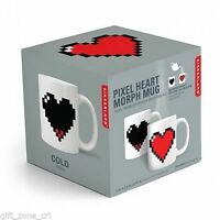 Manta Design Pixel Heart Mug Color sensitive-Heart Shape Color Change KKCU44