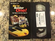 WE'RE NUMBER ONE FLIGHT OF THE SOLAR EAGLE III CAL STATE LA RARE VHS DOCUMENTARY
