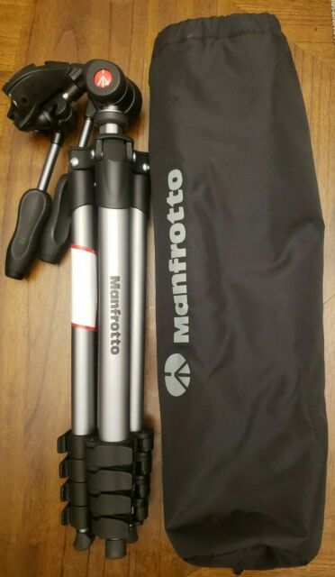"""*No Quick Release Plate* Manfrotto MKSCOMPACT Compact Action Smart 61"""" Tripod"""