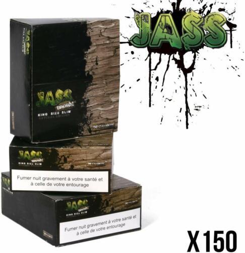 FR 3 Boites JASS SLIM Brown non blanchi feuilles longues Lot de 150 Carnets