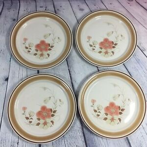 4-Hearthside-Stoneware-Dinner-Plates-Water-Colors-Blush-Floral-10-5-034-Japan