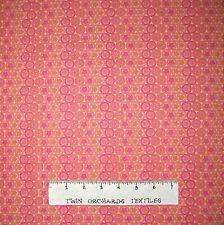 Circle Fabric - Butterflies Pink & Orange Stripe - Lyndhurst OOP YARD