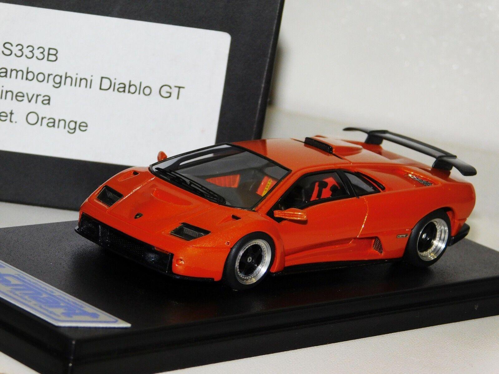 Lamborghini Diablo GT  GINERVA atteint. Orange Lookintelligent LS333B 1 43  nouveau style
