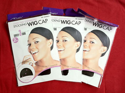 Wig Stocking Caps 2-in-PacK X 3 Packets Limited Special Offer The Best #2225Blk